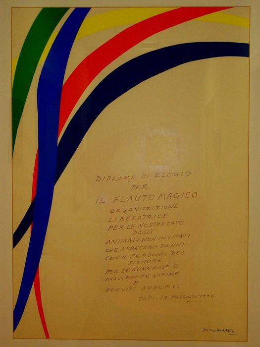 dedica del pittore Pietro Dorazio