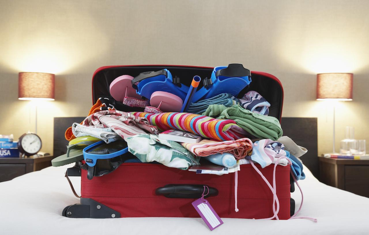 disinfettare la valigia